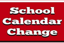 Change in School Calendar