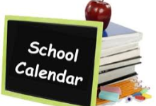 School Calendar for next year 2020-21