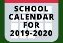 School Calendar for 2019-20