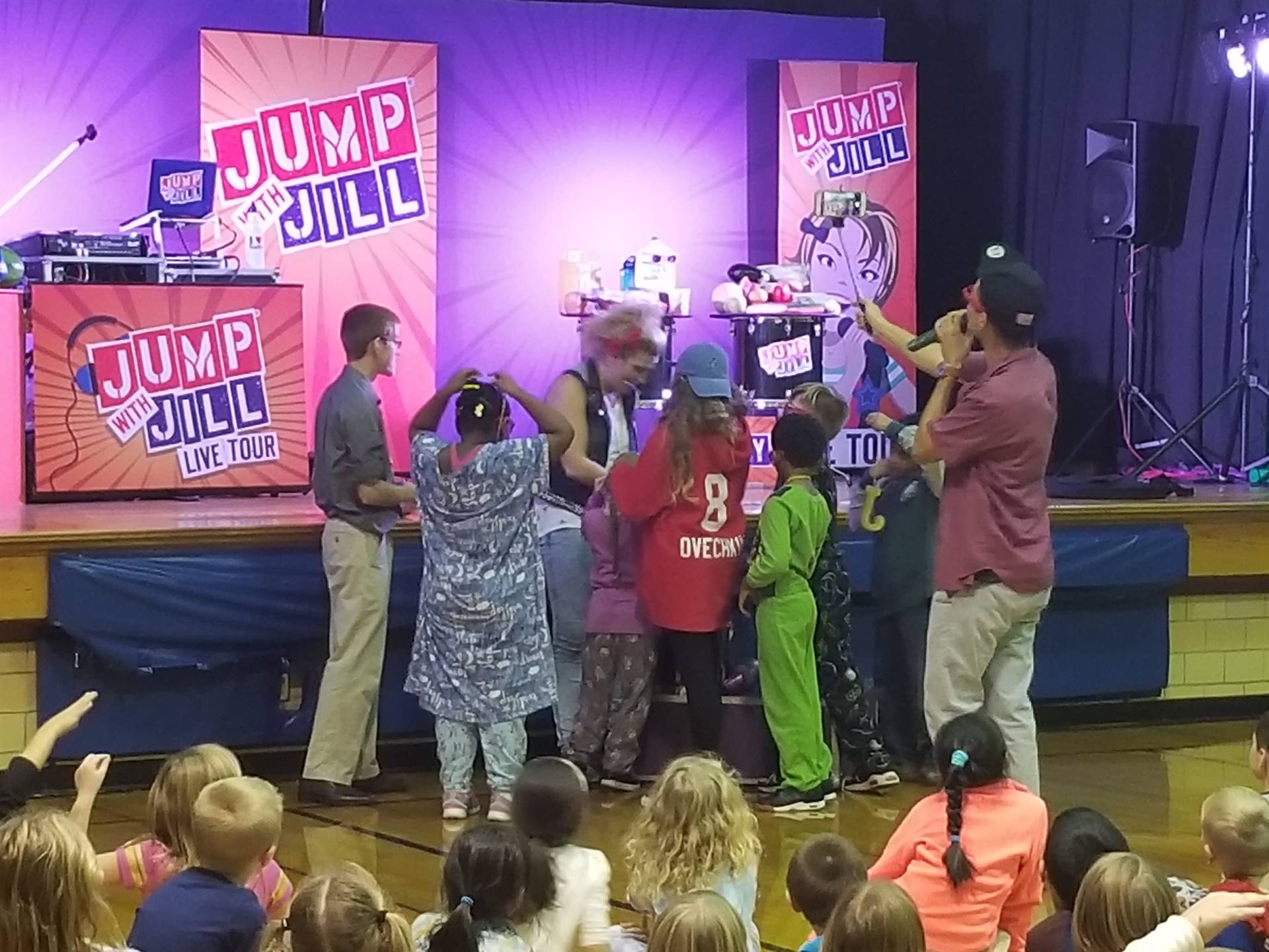 Students getting excited for Jump for Jill.