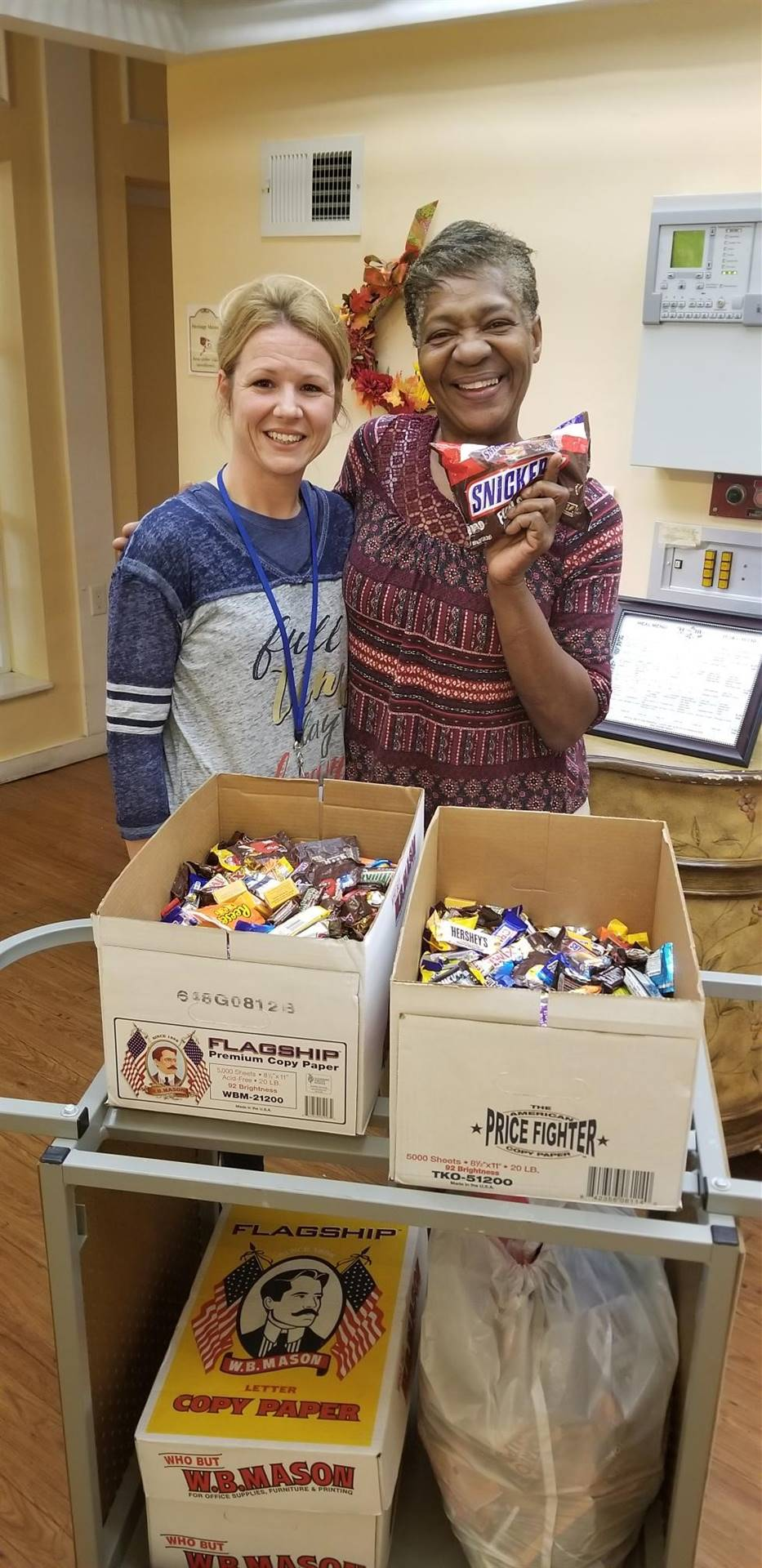 Candy Donation to Heritage Manor