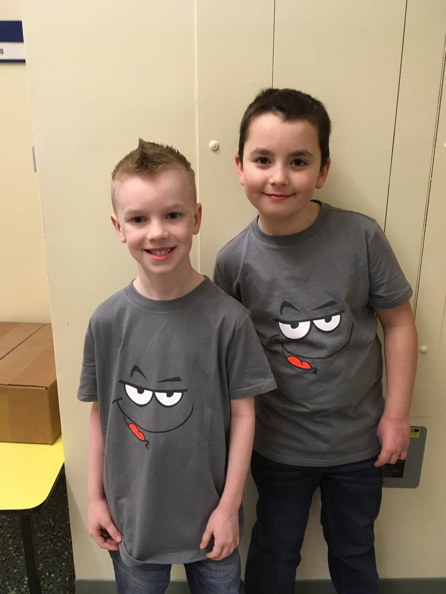 Students dressed as twins.