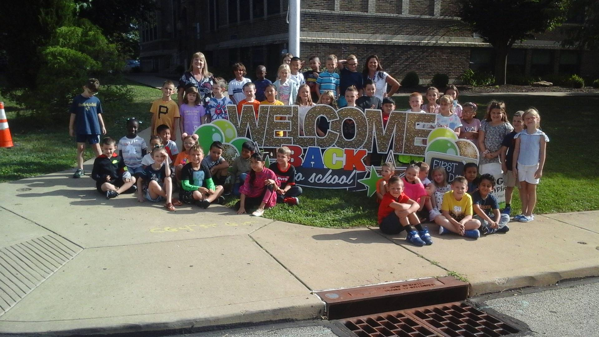 Welcome back! Our first day back to school!